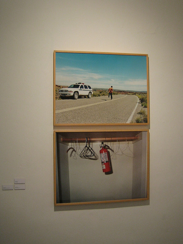 Felipe Dulzaides,  On the Line, 2001 / Caution: Fire Extinguisher, 2000