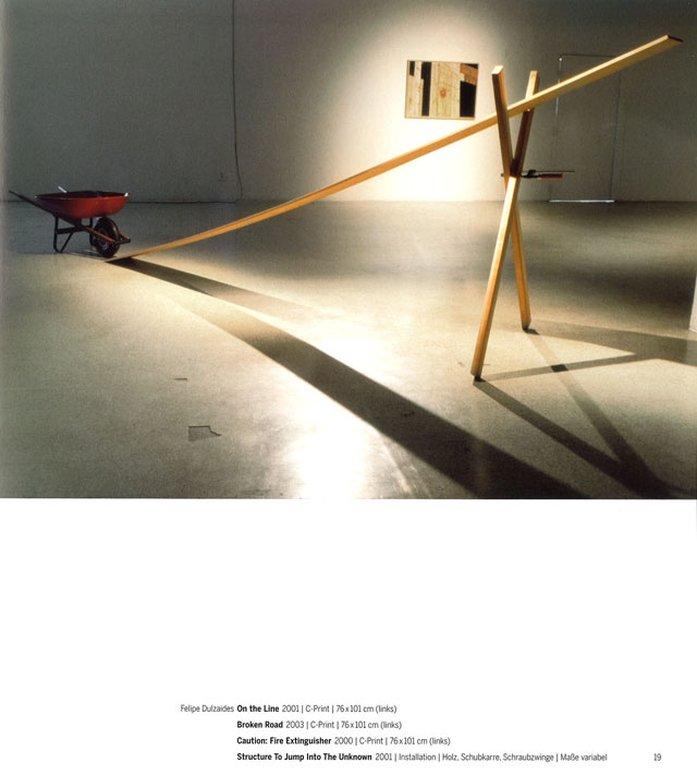 Felipe Dulzaides, Structure To Jump Into The Unknown, 2001